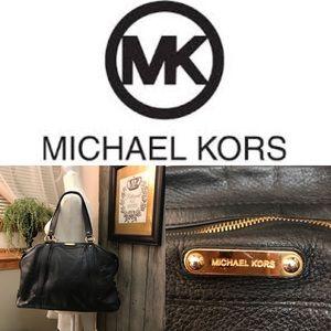 Michael Kors Large Black Leather Shoulder Bag
